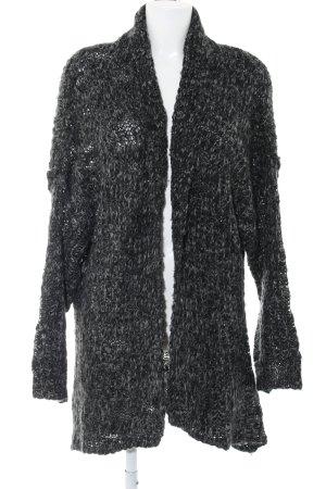 Cotton On Strick Cardigan schwarz-hellgrau meliert Casual-Look