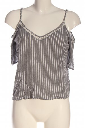 Cotton On Knitted Top light grey-natural white striped pattern casual look