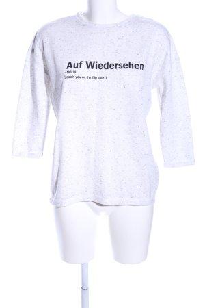 Cotton On Sweatshirt weiß-schwarz meliert Casual-Look