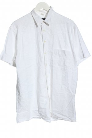 cotton republic Chemise à manches courtes blanc style décontracté