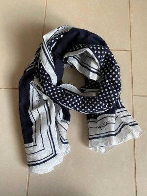 Tommy Hilfiger Sciarpa lavorata a maglia blu scuro-bianco