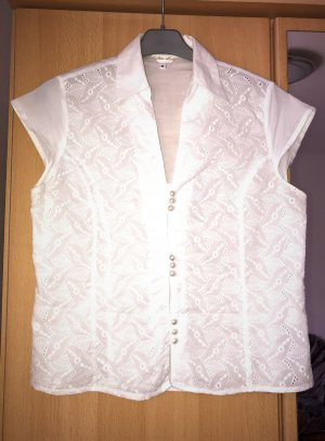 Cotton Soul Kanten blouse wit Katoen