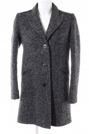 Cottonade Oversized Coat light grey flecked business style