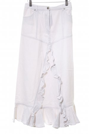 Cottonade Flounce Skirt white casual look