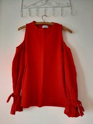 Pull & Bear Camisa tipo Carmen rojo