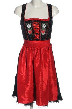 Country Lady Vestido Dirndl estampado a lunares estilo clásico