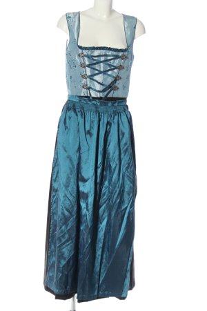 Country Lady Dirndl bleu élégant