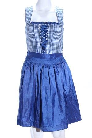 Country Life Dirndl blu-bianco motivo a quadri elegante