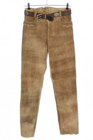 Country Life Pantalon traditionnel en cuir doré style décontracté