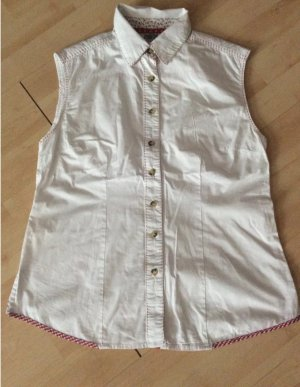 Country Line Traditional Blouse white-dark red