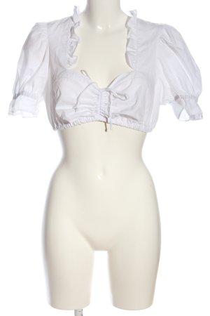 Country Line Camisa recortada blanco look casual