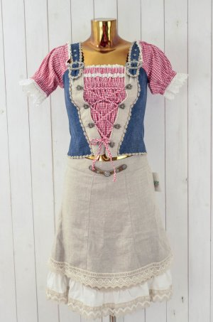 Country Line Traditional Skirt multicolored linen