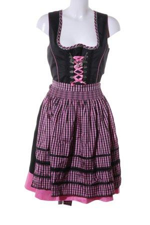 Country Line Dirndl schwarz-pink Karomuster klassischer Stil