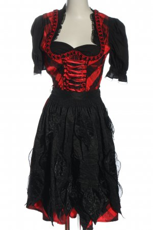 Country Line Dirndl black-red classic style