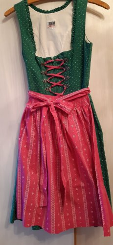 Country Line Dirndl pink-forest green