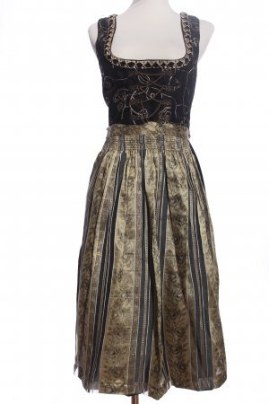 Country Line Dirndl black-gold-colored mixed pattern classic style