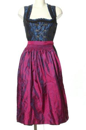 Country Line Vestido Dirndl rosa-lila estilo clásico