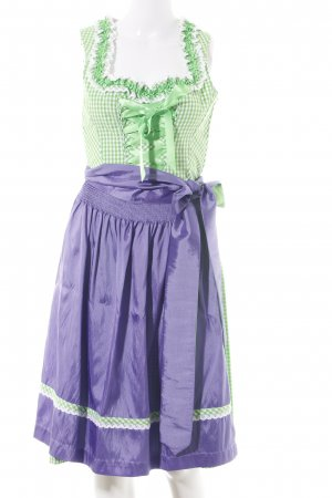 Country Line Vestido Dirndl estampado a cuadros look casual
