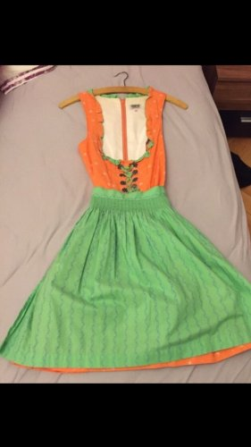 Country Line Dirndl orange-green