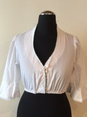 Country Line Traditional Blouse white-forest green