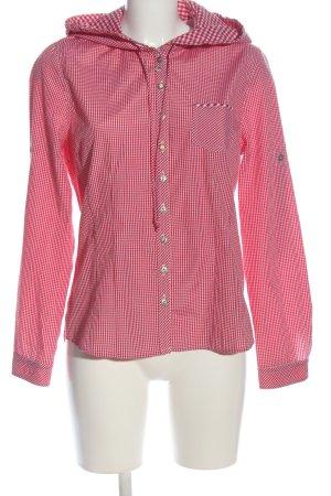 Country Line Camisa de leñador rosa-blanco estampado a cuadros look casual