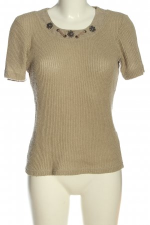 Country Line Kurzarm-Bluse wollweiß Casual-Look