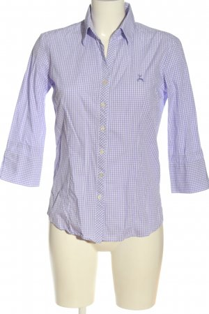 Country Line Long Sleeve Blouse lilac-white allover print casual look