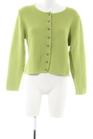 Country Line Gebreide blazer groen casual uitstraling