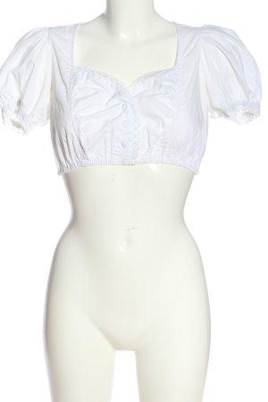 Country Line Blouse bavaroise blanc élégant