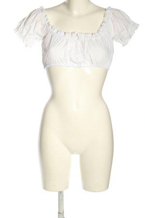 Country Line Blusa tradizionale bianco stile casual