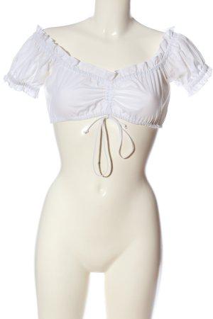 Country Line Blouse bavaroise blanc style classique
