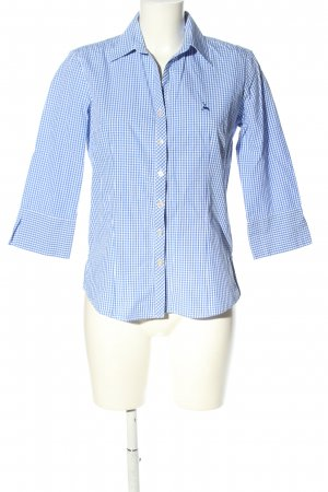 Country Line Trachtenbluse blau-weiß Karomuster Business-Look