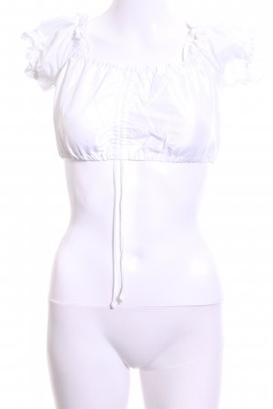 Country Line Blusa tradizionale bianco elegante