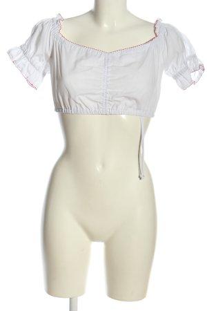 Country Line Chemise bavaroise blanc-rouge élégant
