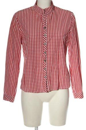 Country Line Camisa folclórica rojo-blanco estilo clásico