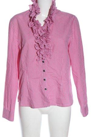 Country Line Chemise bavaroise rose-blanc motif à carreaux style décontracté