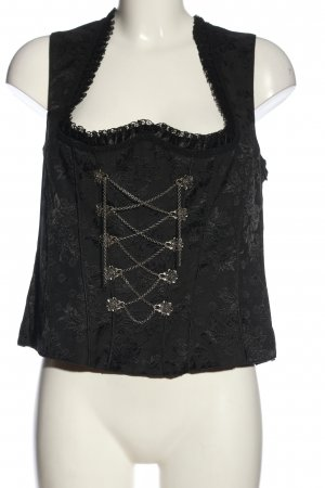 Country Line Traditional Camisole black abstract pattern classic style