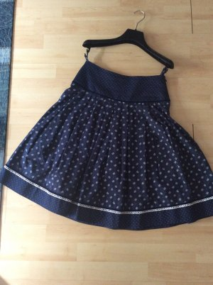 Country Line Folkloristische rok donkerblauw-wit