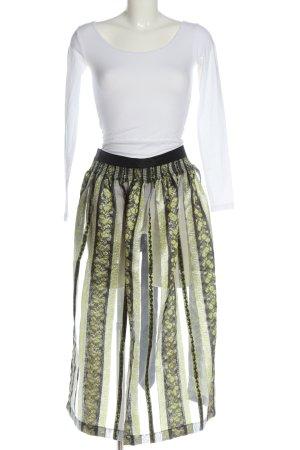 Country Line Tradycyjny fartuch  khaki-zielony Wzór w kwiaty Elegancki