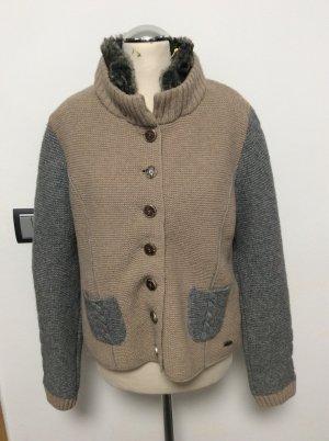 Country Line Tradycyjna kurtka beżowy-szary