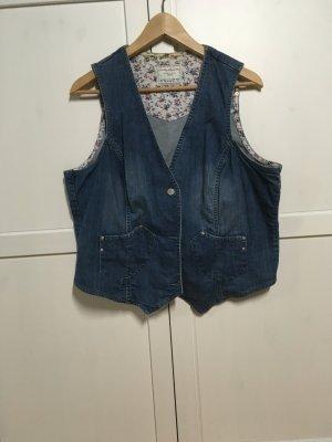Tchibo / TCM Smanicato jeans blu acciaio Cotone