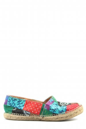 cousu main Espadrille Sandals mixed pattern casual look