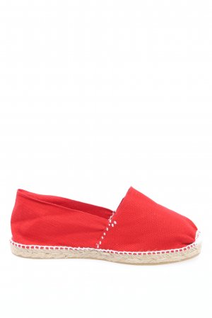 cousu main Espadrille Sandals red casual look