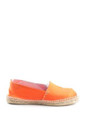 cousu main Alpargatas naranja claro look casual
