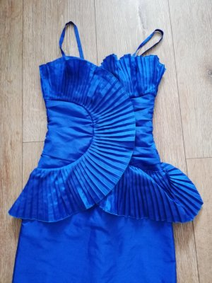 Bernd Linek Couture Peplum Dress blue