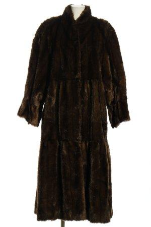 Couture Hélène Płaszcz ze sztucznym futrem brązowy W stylu casual