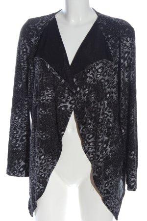 Couture Line Veste chemisier noir-gris clair motif animal style décontracté