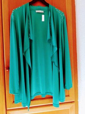 Couture Line Cardigan - verschlußlose Jacke, mit silbernem Steinchenbesatz, neu