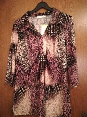 Couture Line - gemusterte Bluse in den Farben mauve-schwarz-beige