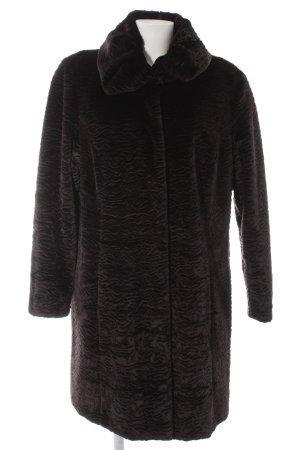 Couture Line Cappotto in eco pelliccia nero elegante